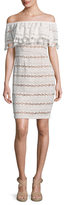 Tracy Reese Lace Trimmed Sheath Dress