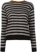 Marni striped open back jumper - women - Nylon/Cashmere - 40