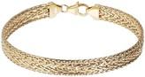 """Italian Gold 7-1/2"""" Woven Bracelet, 14K Gold 5.3g"""