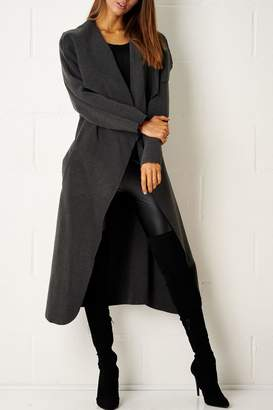 Frontrow Charcoal Waterfall Coat