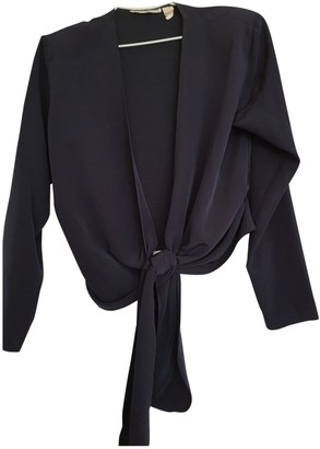 Cacharel Navy Silk Top for Women
