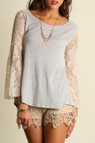 Umgee USA Lace Casuality Top