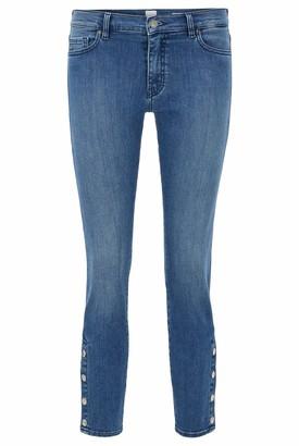 HUGO BOSS Womens J21 Irvine Slim-fit Jeans in red-cast Stretch Denim