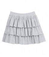 Petit Bateau Girls plain ruffled skirt