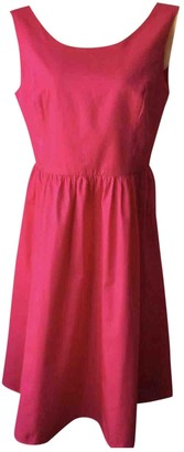 Hallhuber Pink Cotton Dress for Women