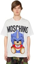Moschino Transformer Bear Cotton Jersey T-Shirt