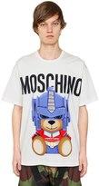Moschino Transformer Bear Cotton Jersey T-Shirt