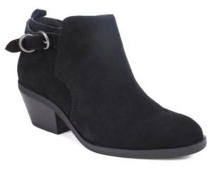 White Mountain Sadie Block Heel Booties Women's Shoes