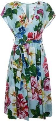 Dolce & Gabbana Floral Print Belted Dress