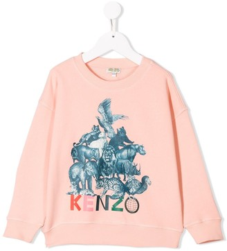 Kenzo Crazy Jungle print sweatshirt