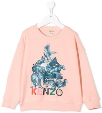 Kenzo Kids Crazy Jungle print sweatshirt