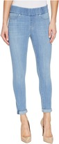 Liverpool Sienna Pull-On Rolled-Cuff Crop in Silky Soft Denim in Normandie Light Women's Jeans