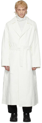 A. A. Spectrum White Long Trench Coat