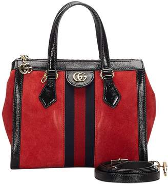 Gucci Ophidia Red Suede Bags