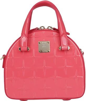 MCM Pink Leather Tote Bag
