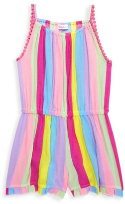 Design History Little Girl's Rainbow Stripe Romper