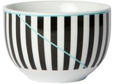 Cheeky® Memphis 8oz Porcelain Mini Bowl - Black Vertical Stripe