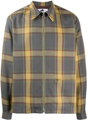 Anglozine Yard checked shirt jacket