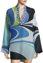 Emilio Pucci Libellula Long-Sleeve Coverup