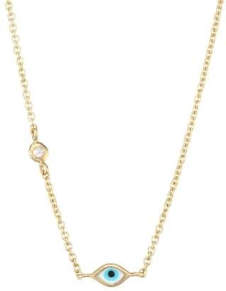 Sydney Evan Evil Eye Diamond & 14K Yellow Gold Pendant Necklace