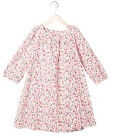 Petit Bateau Girls' Floral Print Long Sleeve Dress