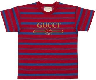Gucci Striped Cotton Jersey T-Shirt
