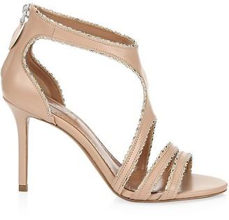 Alaia Embellished Leather Sandals