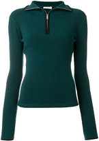 Paco Rabanne front zipped jumper