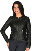Women's Harve Benard Faux-Leather Motorcycle Jacket