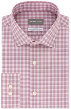 Michael Kors Men's Slim Fit Non-Iron Performance Airsoft Dress Shirt
