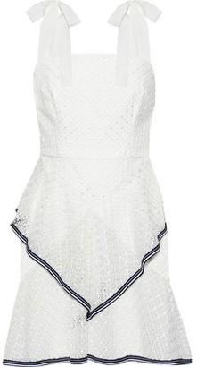 Rebecca Vallance Macarti Layered Lace Mini Dress