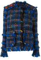 MSGM fringed tweed jacket