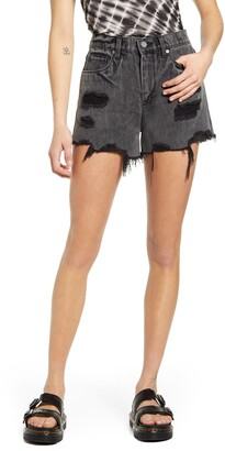Blank NYC The Barrow High Waist Distressed Denim Shorts