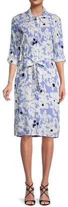 Diane von Furstenberg Kadina Floral Shirtdress