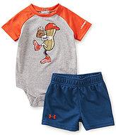 Under Armour Baby Boys Newborn-12 Months Peanut-Character-Screenprint Bodysuit & Solid Shorts Set