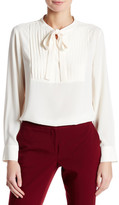 Vince Camuto Pleated Tuxedo Blouse