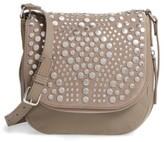 Vince Camuto Bonny Studded Leather Crossbody Bag - Grey