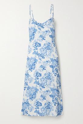 Reformation Chianti Floral-print Crepe Midi Dress