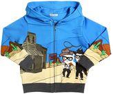 Dolce & Gabbana Western Hooded Zip-Up Cotton Sweatshirt