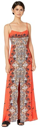 Free People Morning Song Printed Maxi (Red) Women's Dress