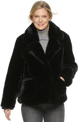 Ellen Tracy Women's Cropped Faux Fur Jacket