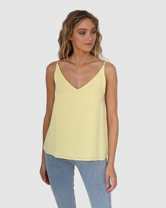 Lost in Lunar - Women's Yellow Singlets - Carina Cami - Size One Size, 6 at The Iconic
