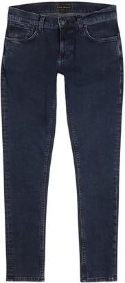 Nudie Jeans Tight Terry dark blue slim-leg jeans