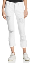True Religion Liv Relaxed Skinny Jeans in Bright White Destroyed