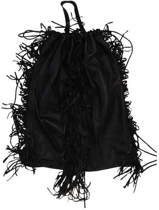 Kara Black Leather Backpacks