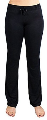 Crown Sporting Goods Soft & Comfy Yoga Pants, 95% Cotton/5% Spandex, Black XXL