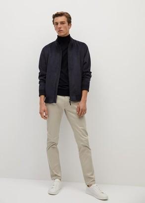 MANGO MAN - 100% merino wool washable sweater sand - S - Men