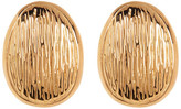 Simon Sebbag 24k Gold Plated Clip On Drop Earrings