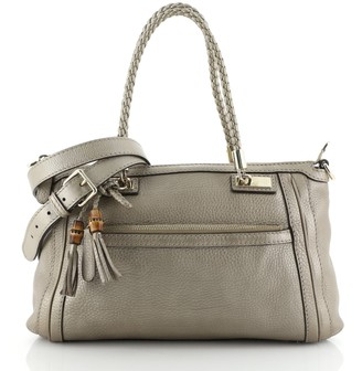 Gucci Bella Convertible Top Handle Bag Leather Small