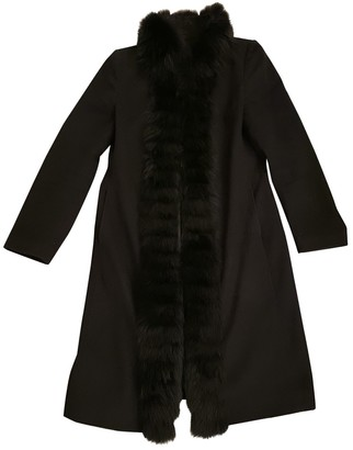 Harrods Black Wool Coat for Women